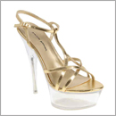 gold stilletos