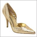 gold pump shoe