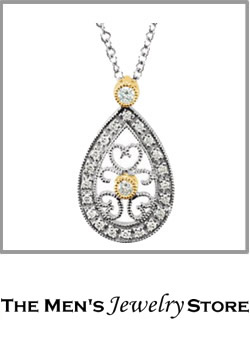 Teardrop Diamond Filigree Necklace From The Mens Jewelry Store