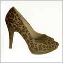 leopard print peeptoe