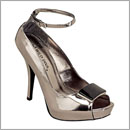metallic platform shoes