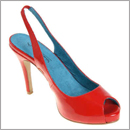 red slingback shoes