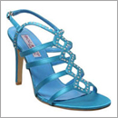 turquiose satin shoes