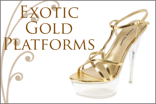 Gold Platform Shoes