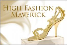 Gold High Heels Sandals