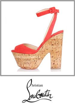 5-chritisan Louboutin Super Dombasle 160 Coral Suede Cork Platform Wedge Sandals Booty 001