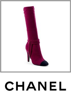 Chanel Womens Black Toed Pink Boot