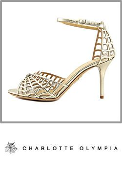 Charlotte Olympia Spinderella Open Toe Leather Sandals