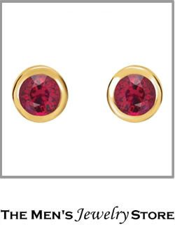 Chatham Created Ruby 14k Yellow Gold Stud Earrings