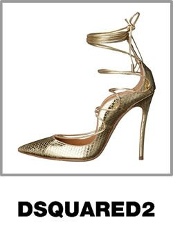 Dsquared2 Womens Riri Strappy Pump Leather Sandals