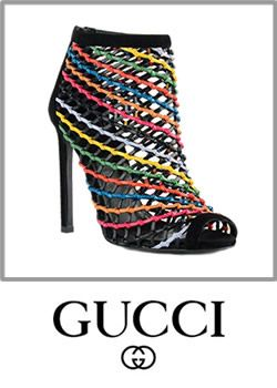 Gucci High Heel Cage Booties