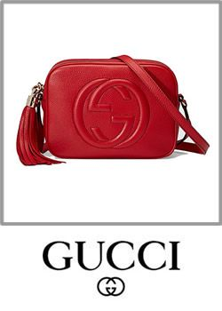 Gucci Soho Leather Disco Bag Leather Red Cometic Pouch