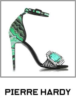 Pierre Hardy Green And Black Open Toe High Heels