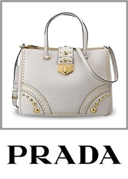 Prada Made In Italy Leather And Stud Handbag