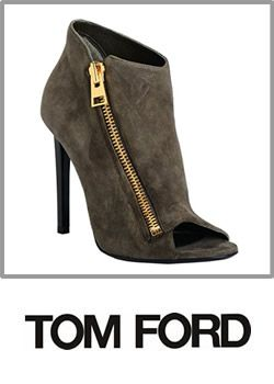 Tom Ford Olive Green Suede Ankle Boots