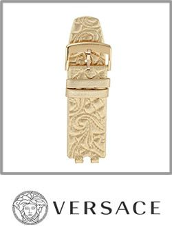 Versace Tooled Leather Watch Band