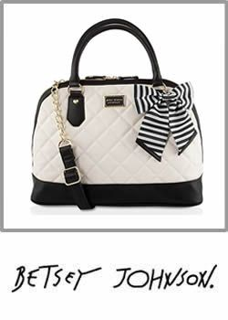 Betsey Johnson Large Quilted Dome Satched Bag Cometic Pouch Compressor